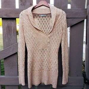 Maurice's Womens Size Medium Beige Sweater